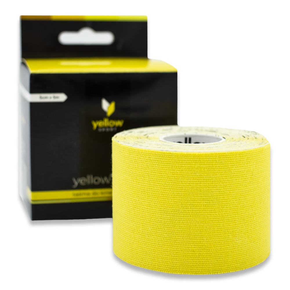 yellowTAPE – taśma do kinesiotapingu 5cm Żółty